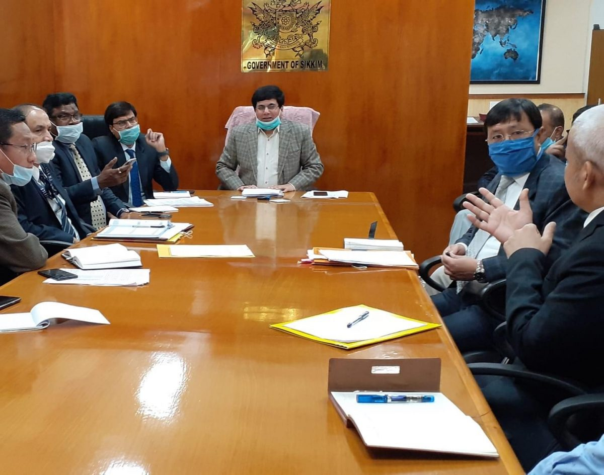 Chief Secretary chaired the State Level Task Force Meeting