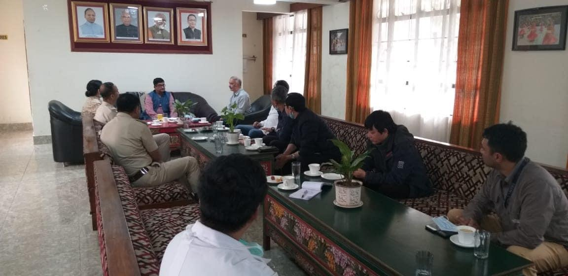 Minister Shri Lok Nath Sharma chaired a meeting at Rangpo today