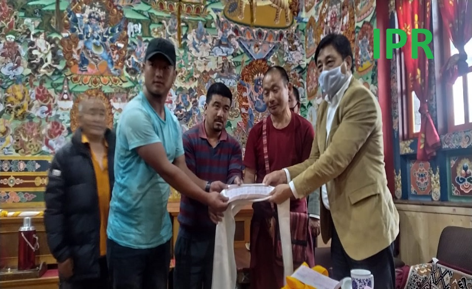 Ringhim Monastery North Sikkim contributed towards the Chief Minister's Relief Fund