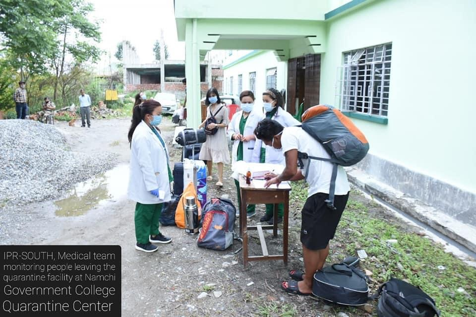 4 people were discharged after testing negative at Namchi Government College, Kamrang