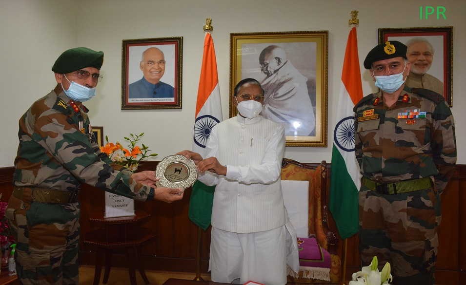 GOC of 17 Mountain Division Major General called on the Hon'ble Governor