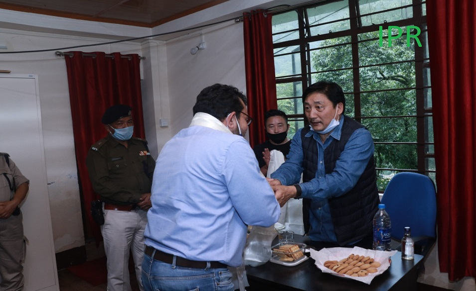 VEHICLE DISINFECTING SYSTEM INSTALLED AT TOONG CHECK POST  NORTH SIKKIM