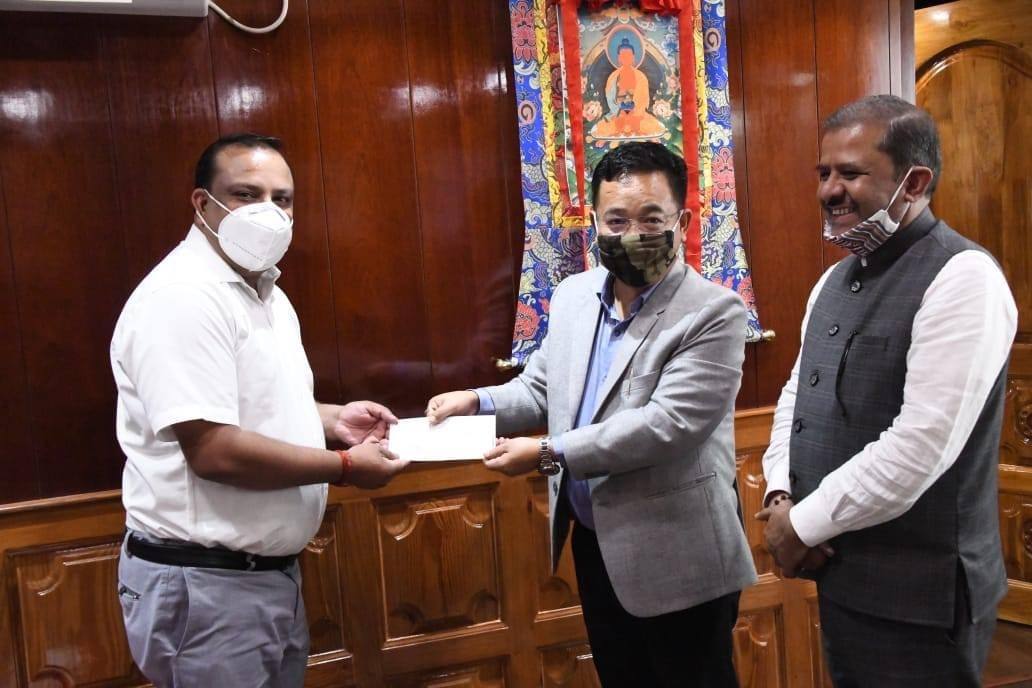 Contribution towards CM's Relief Fund