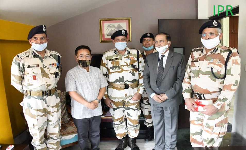 IG ITBP Lucknow, Govt. of India called on the Hon'ble Chief Minister