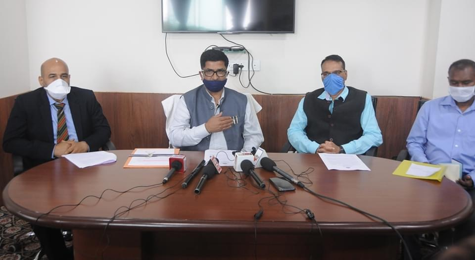 Hon'ble Minister Shri L. N. Sharma convened a press conference