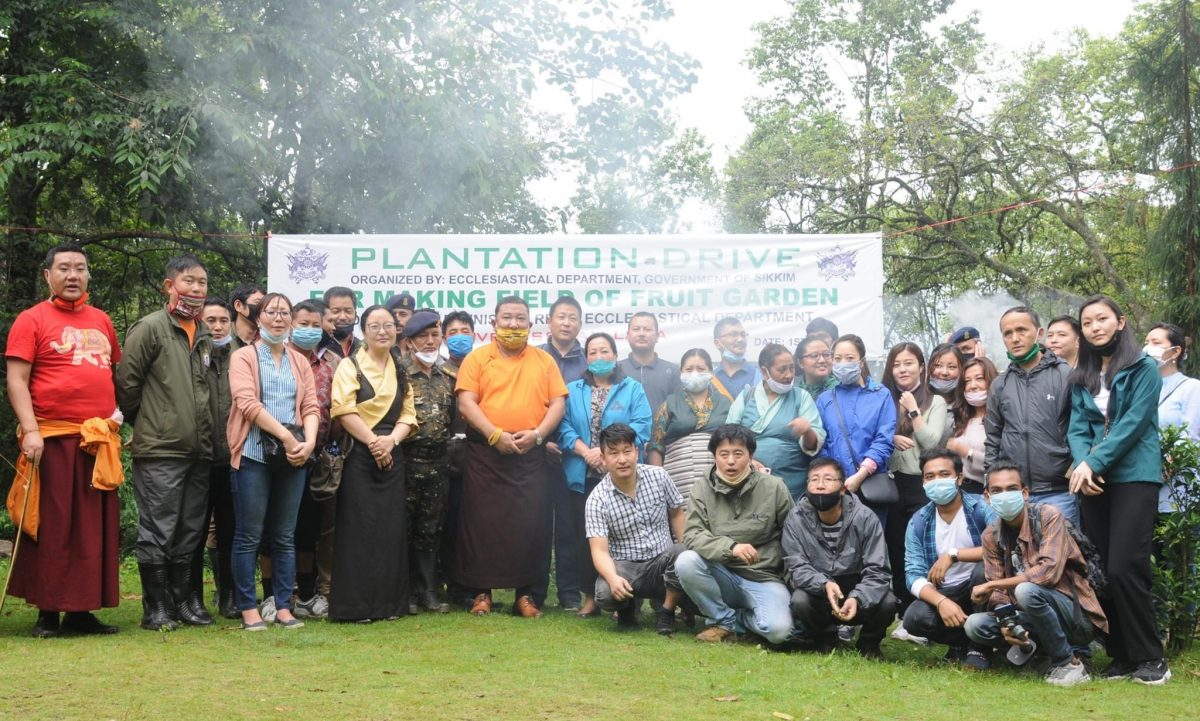 The Ecclesiastical Department organised a plantation drive at the Sheda complex Deorali Chorten