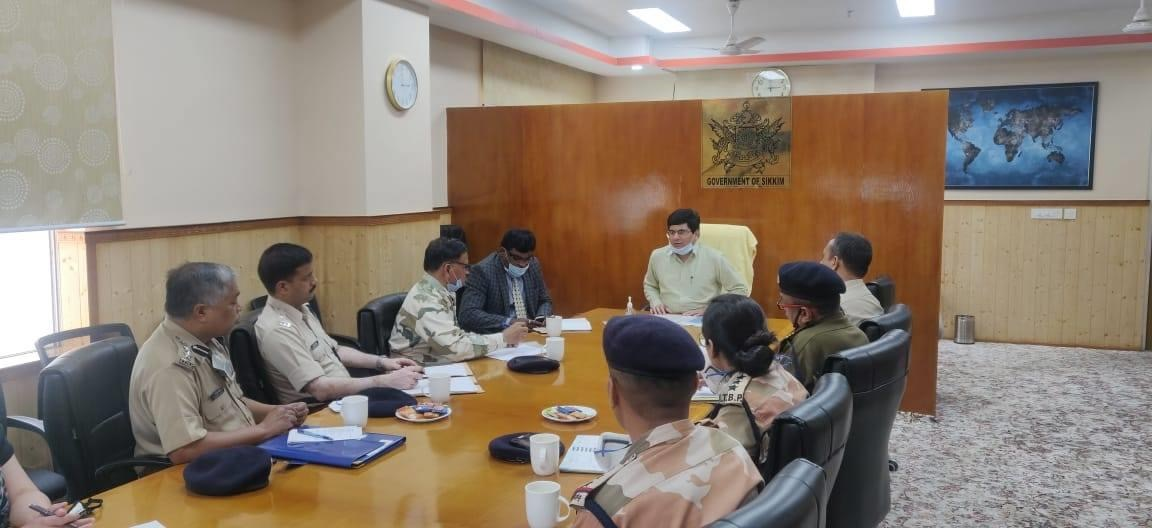 A meeting was summoned by Chief Secretary Shri S.C. Gupta with SSB, ITBP & BRO