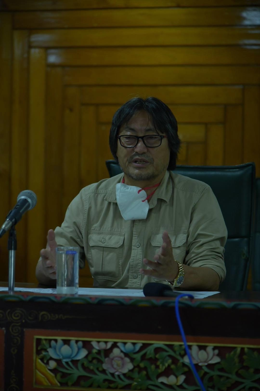 Hon'ble Minister Shri. Karma Loday Bhutia convened a press conference at Forest Secretariat