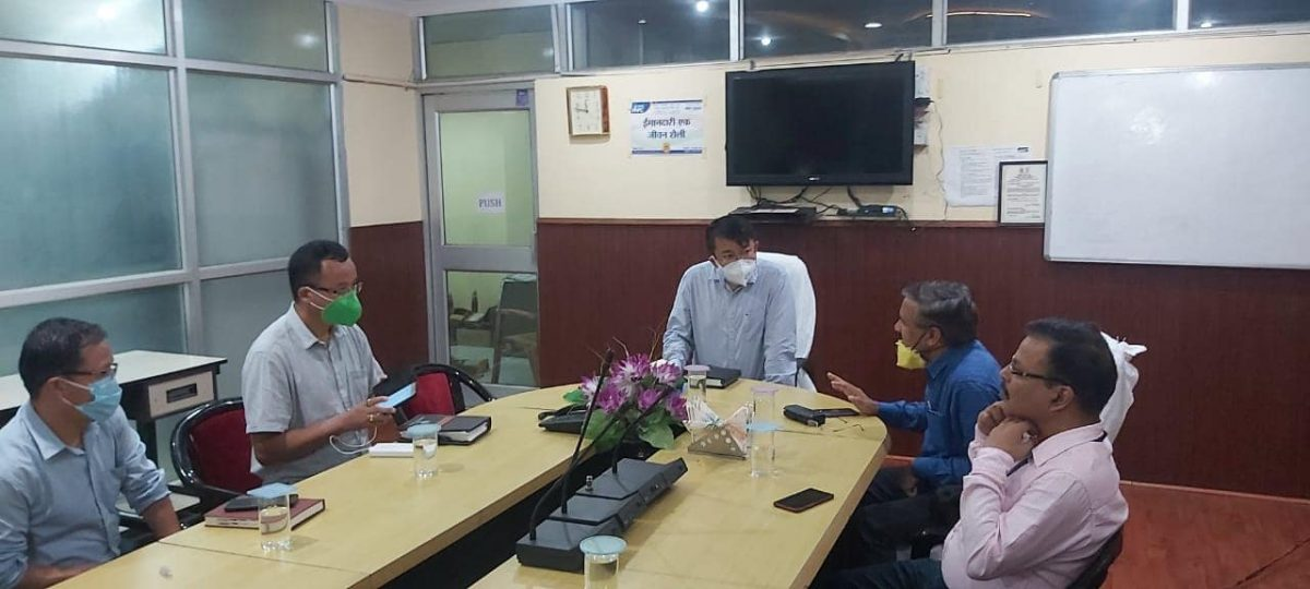 DC West chaired a meeting with General Manager (NHPC)