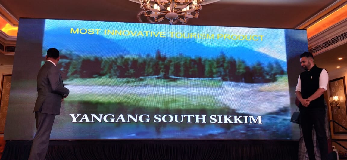 Yangang, South Sikkim has been named the most innovative tourism product of the year