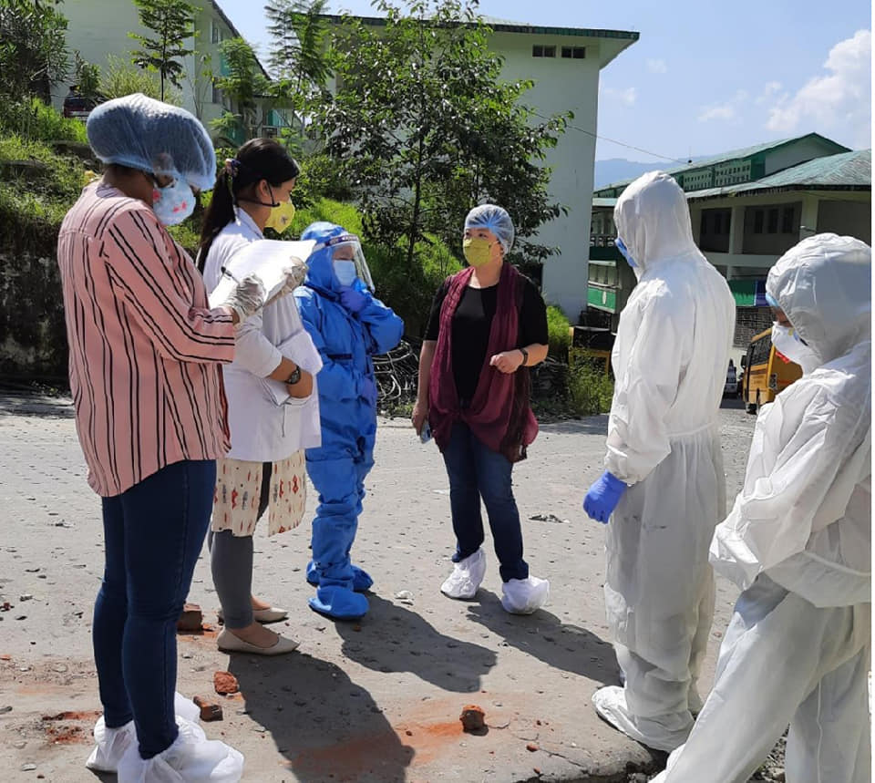 The officials of State Pollution Control Board-Sikkim inspects COVID-19 hospitals