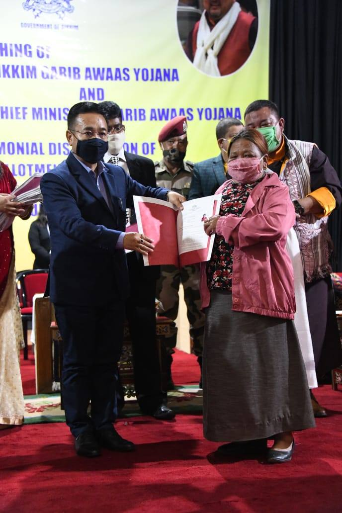 Hon'ble Chief Minister launches the Sikkim Garib Awaas Yojana & Chief Minister's Garib Awaas Yojana