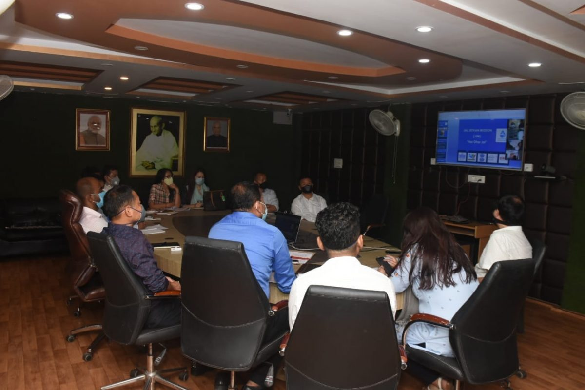 A video conferencing meeting on Jal Jeevan Mission was held at DAC, Namchi