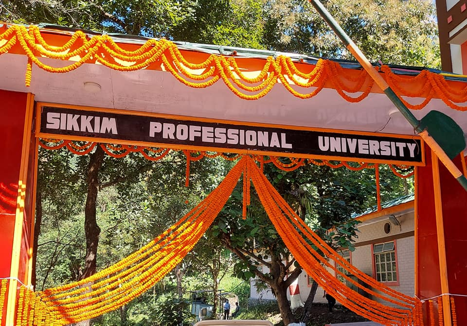 The Hon'ble Chief Minister inaugurated Sikkim Professional University at West Sikkim