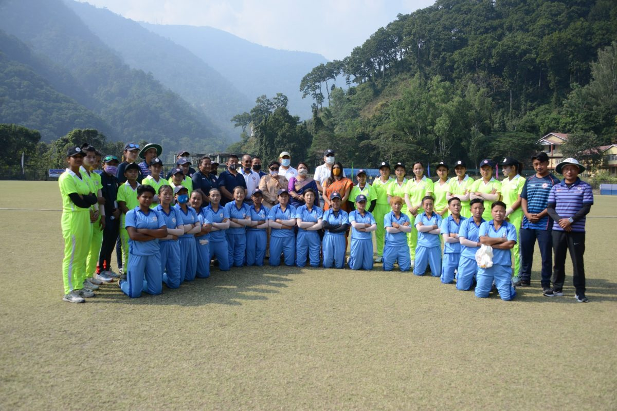 The final match of Sikkim's first All Women's Cricket Tournament was held at Rangpo