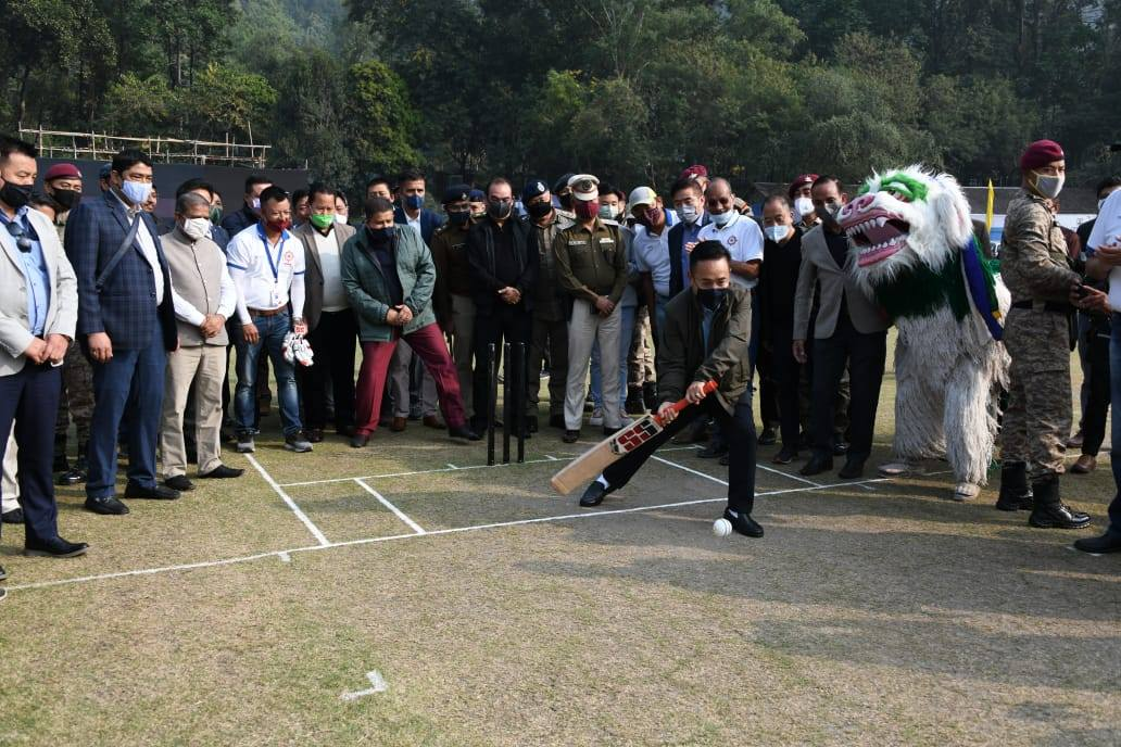 Hon'ble Chief Minister attends the finals of the Khangchendzonga Shield 2020