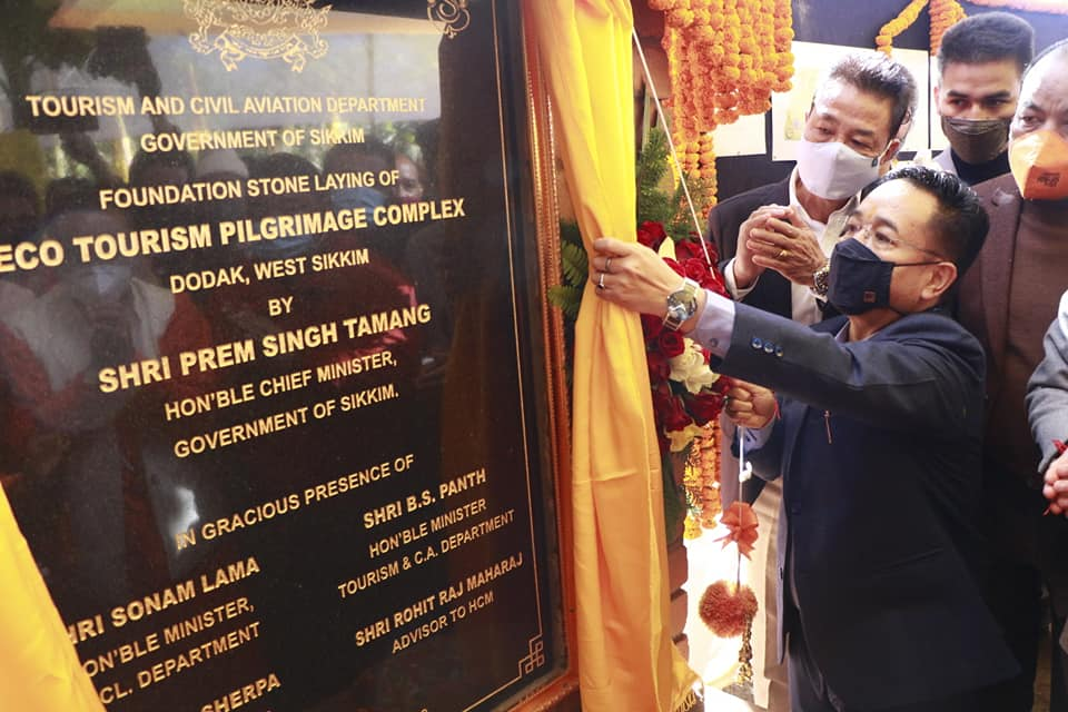 Hon'ble Chief Minister laid the foundation stone of eco-tourism pilgrimage complex at Dodak