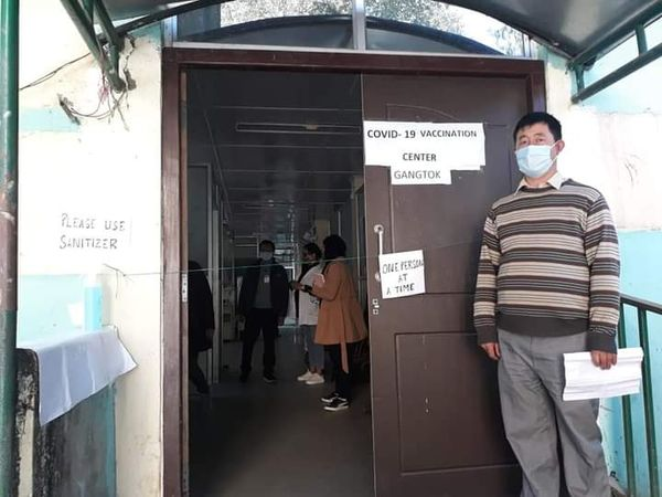 The dry run for COVID–19 vaccine was held at Urban PHC, Gangtok