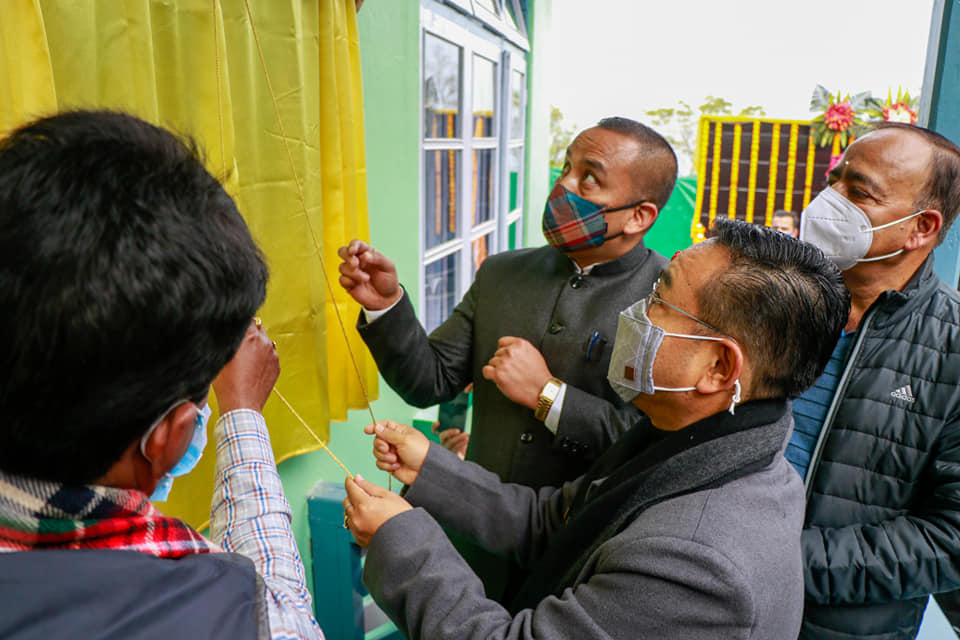 The Hon'ble Chief Minister inaugurates Child Empowerment Centre at Poklok-Denchung