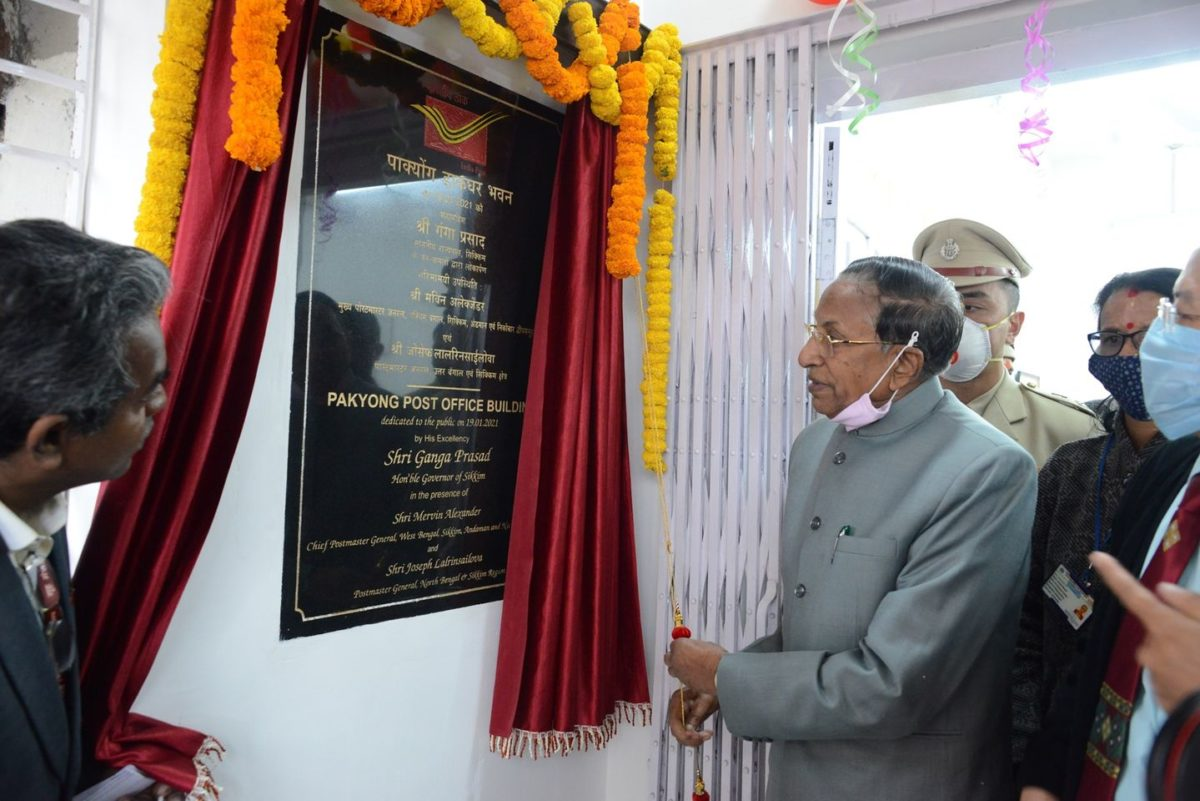 The Hon'ble Governor inaugurated a newly constructed Post Office of India at Pakyong