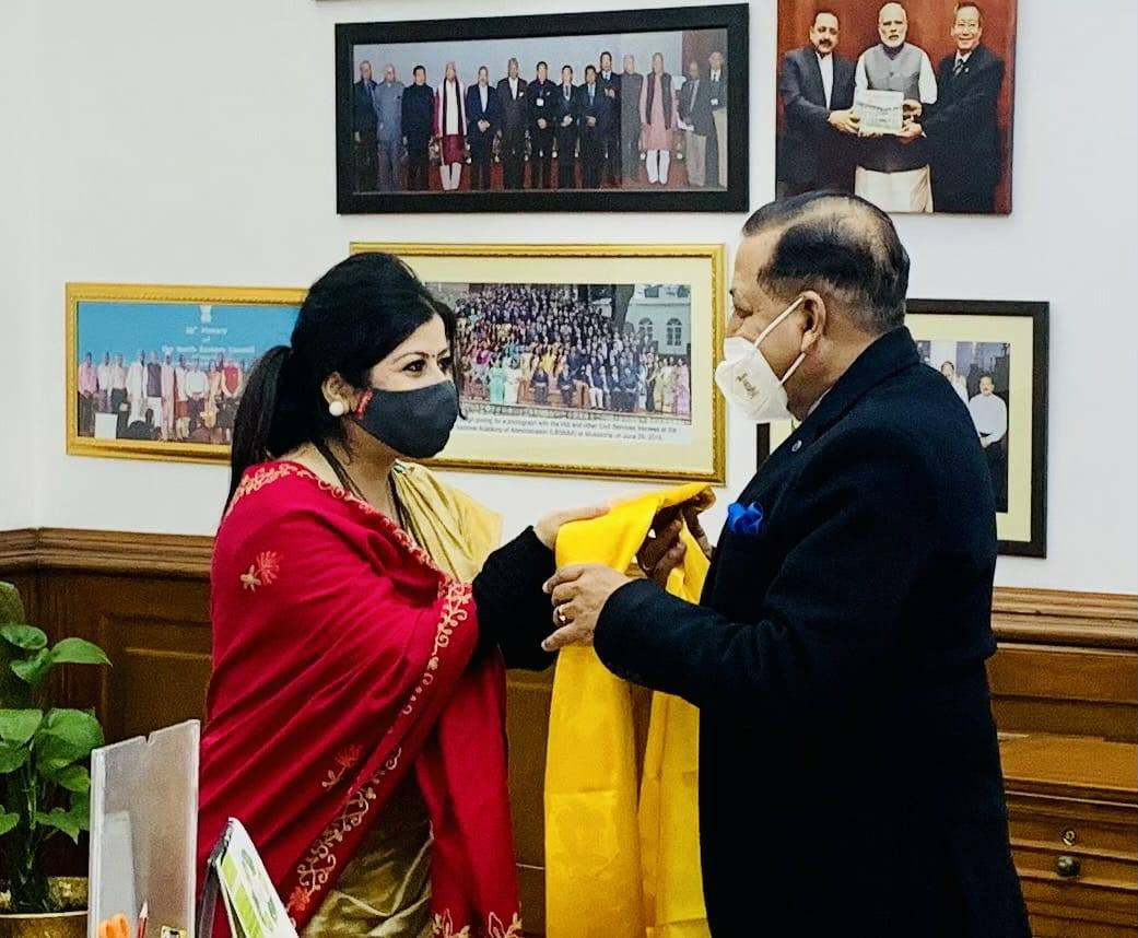 SFPB chairperson calls on DONER Minister at New Delhi