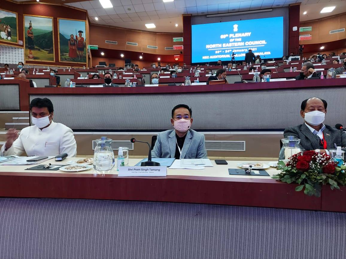 The Hon'ble Chief Minister attends the 69th Plenary Session of the North Eastern Council