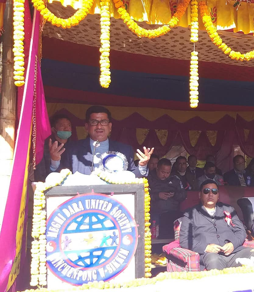 Hon'ble Minister Shri L. N. Sharma attends Winter Cup Open Men's Volleyball Tournament 2020
