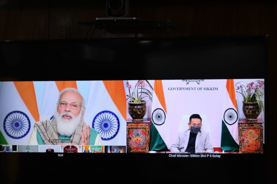 The Hon'ble Chief Minister attended a video conference called on by the Hon'ble Prime Minister