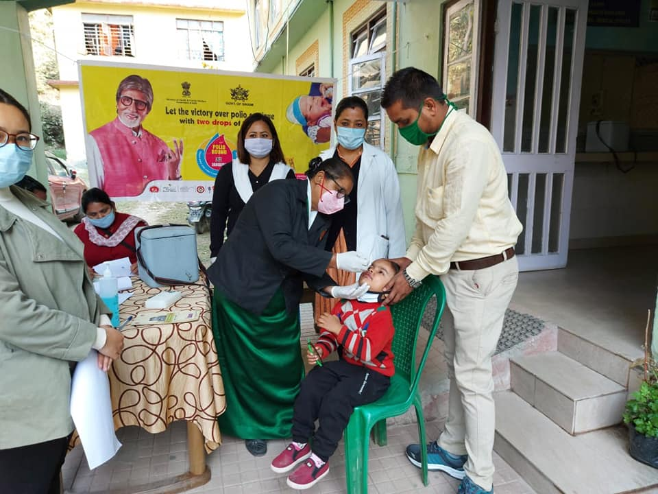 Polio National Immunization launched in Namchi District Hospital