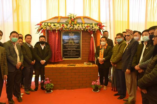 The Hon'ble Chief Minister laid a series of foundation stones in West Sikkim