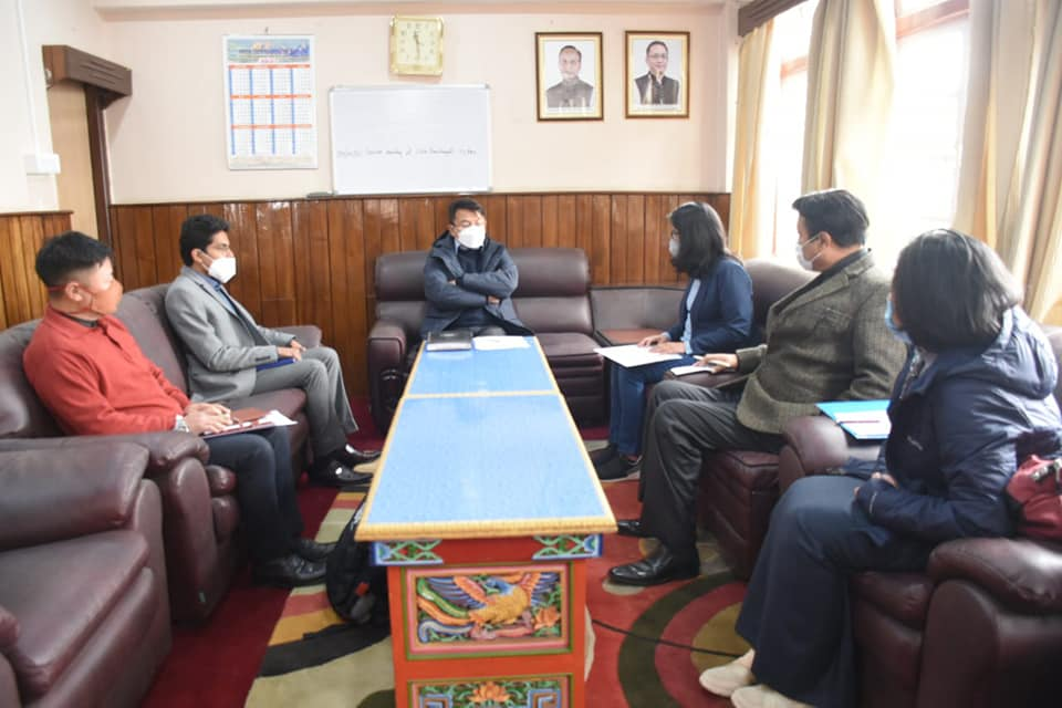 District Collector West chairs a meeting