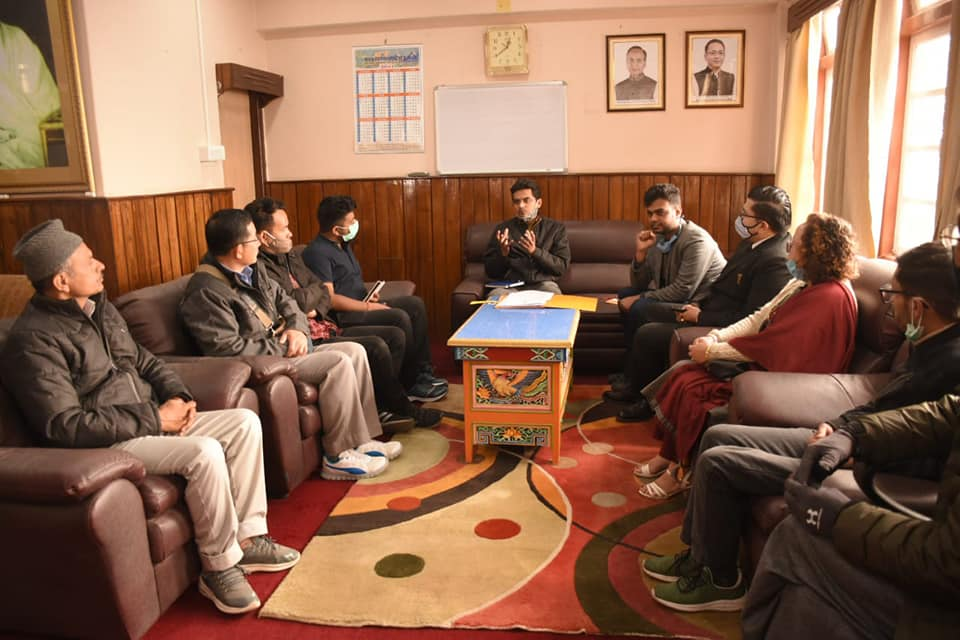 A meeting was chaired at the office of the District Collector West, Gyalshing