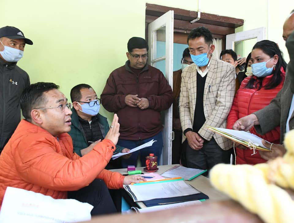 The Hon'ble Chief Minister interacts with the public of eight GPU's under Rinchenpong Constituency