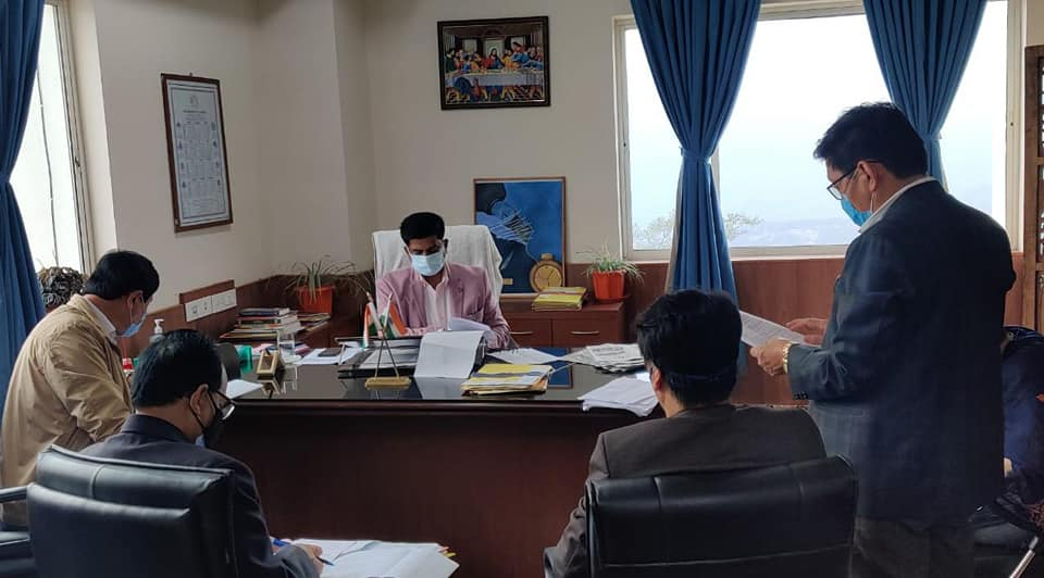 Hon'ble Minister Shri L. N. Sharma chaired two review meetings