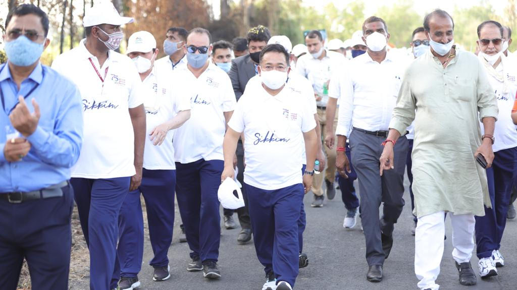 The Hon'ble Chief Minister participates in the Azadi Ka Amrit Mahotsav Dandi March in Gujarat