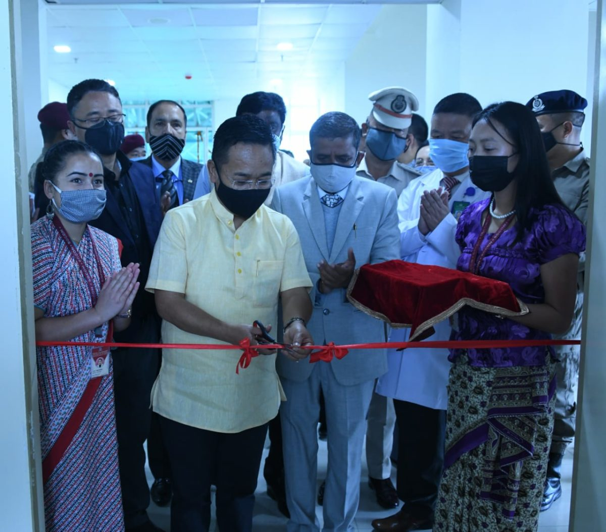 The Hon'ble Chief Minister inaugurates a Super-speciality wing at STNM