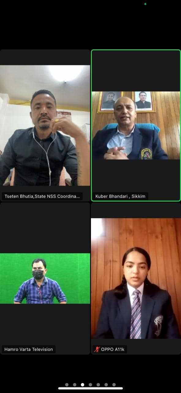 An online virtual meet  to declare the winners of Slogan/Poster Competition
