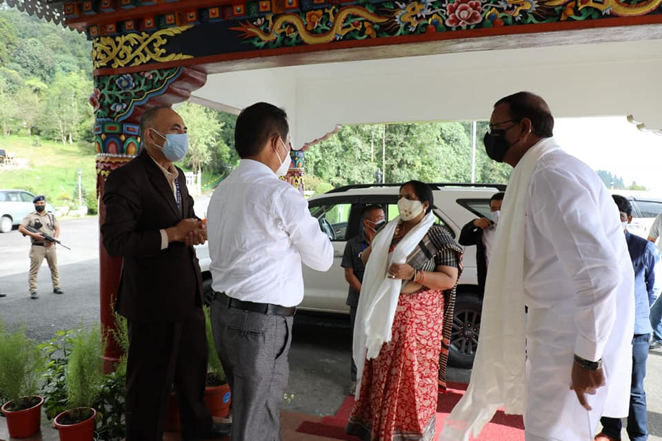Hon'ble Union Minister of State for Finance, Government of India arrived at Raj Bhawan