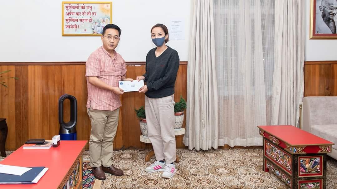HCM met Miss Deepa Rai the first person from Sikkim to clear the Research Eligibility Test (RET) conducted by Tripura University