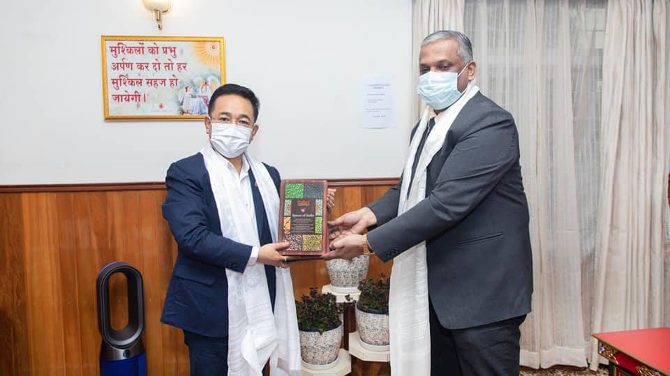 Secretary Spices Board meets Chief Minister of Sikkim to discuss spices prospects in Sikkim