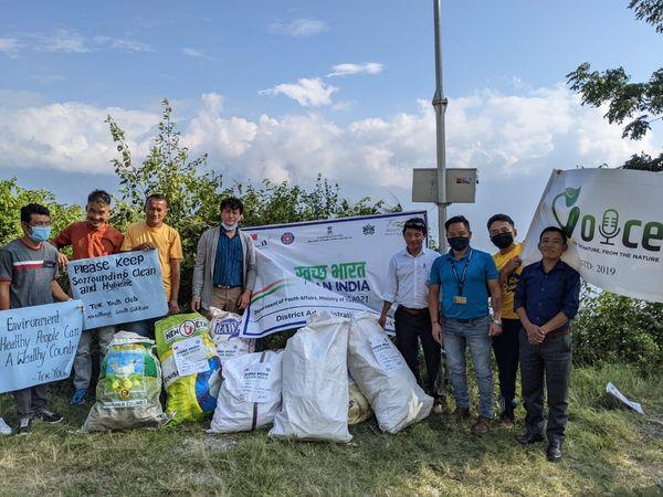 A cleanliness drive was conducted by BAC, Namthang